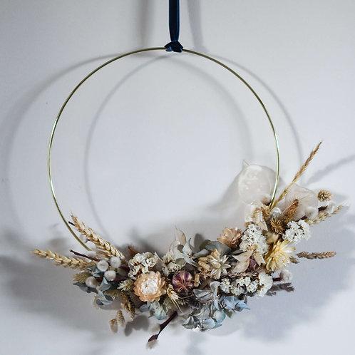 Moody Blues Dried Flower Hoop 25cm