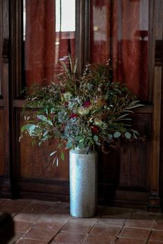 Milk Churn Autumn Wedding Flower Arrange