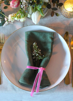 Heather Velvet Ribbon Wedding Table Tonb