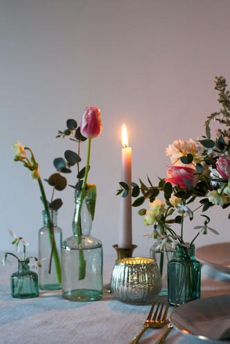 Vintage Bud Vases Spring Flowers.JPG