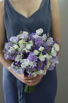 Purple White Bridesmaid Bouquet British