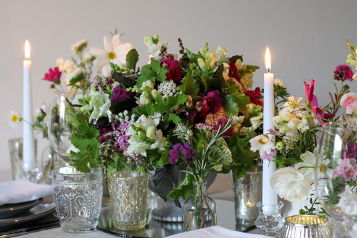 Scented Autumn Wedding Table Flowers Eng