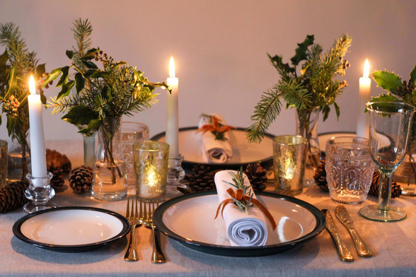 Mustard, Brown Green Table Arrangements