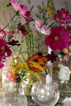 Daytime Bright Pink Party Flowers.JPG