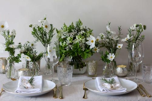 White Green Classic Wedding Flowers Kent
