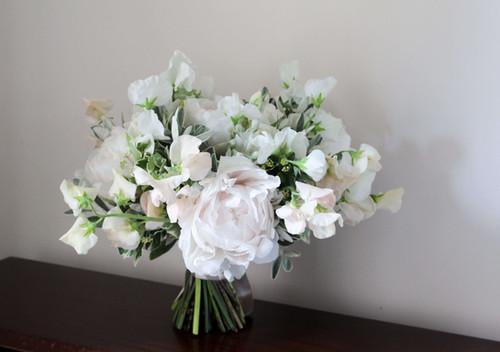 Peony Sweet Pea Bouquet Blush Bouquet.JP