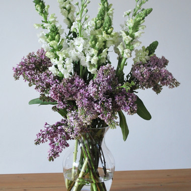 Cecily & Ernest Lilac & Snapdragon Vase