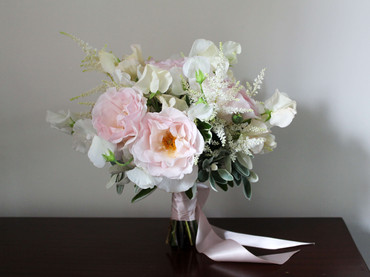 Scented  Blush Roses Kent Wedding Bouque