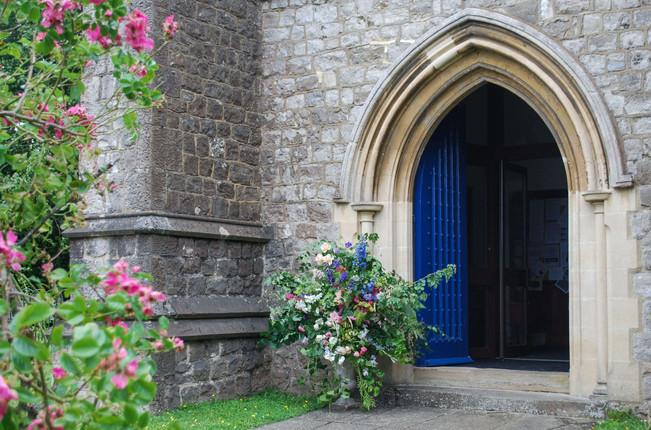 Church Entrance Flower Arrangement Summe