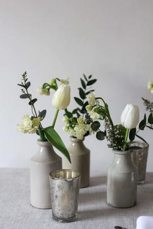 White Cream Tulips Narcissi Heather Brit