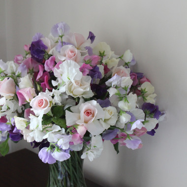 Cecily & Ernest Rose & Sweet Pea Vase