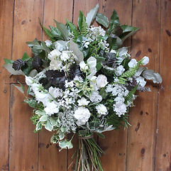 White Sevenoaks Funeral Sheaf Flowers Su