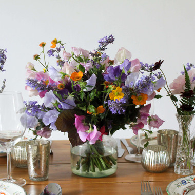 Colourful English Summer Flowers table.J