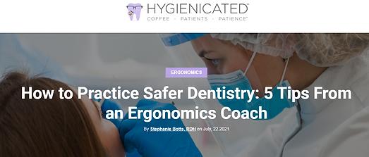 stephanie botts ergonomic coaching dental