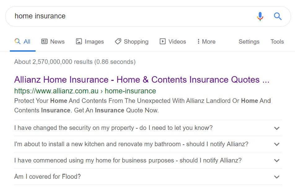 Example of FAQ structured data on Google - Digital Bohemian