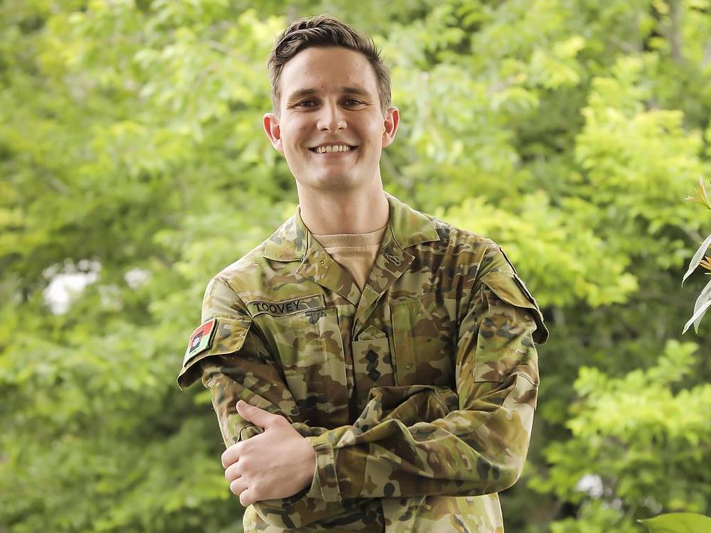 Hugo Toovey in uniform - Asking for a mate - Men's Health Week