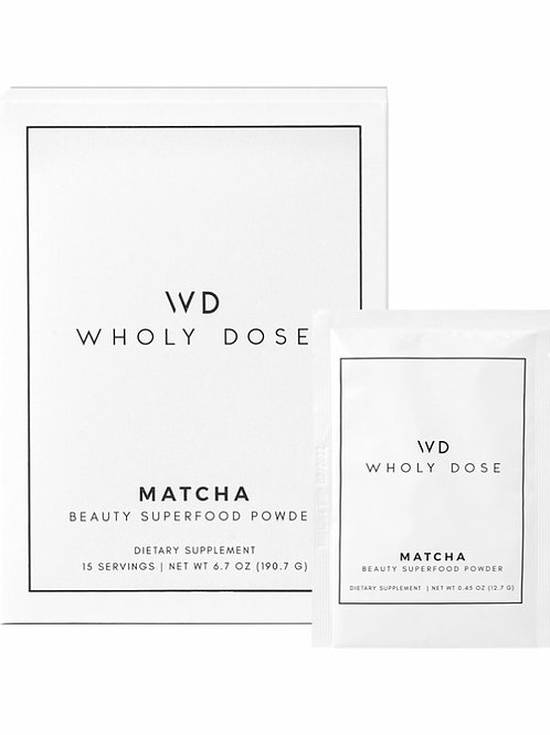 Wholy Dose // MATCHA Superfood Packets - Matcha, Collagen, Biotin Boosted