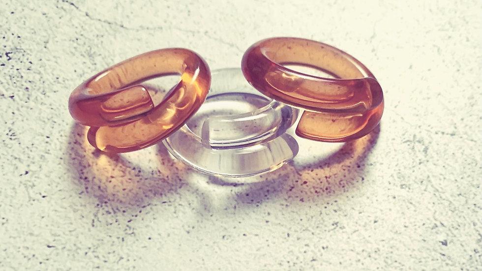 Acrylic Twisted Ring