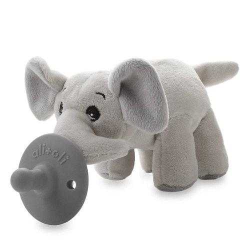 Ali + Oli // Elephant Pacifier Holder w/ Pacifier