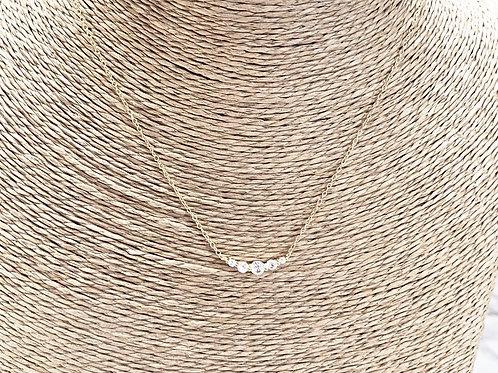 Mika + Co. // Gold Necklace w/ Round Cut CZ Diamonds
