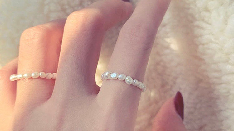 Freshwater Pearl Infinity Ring