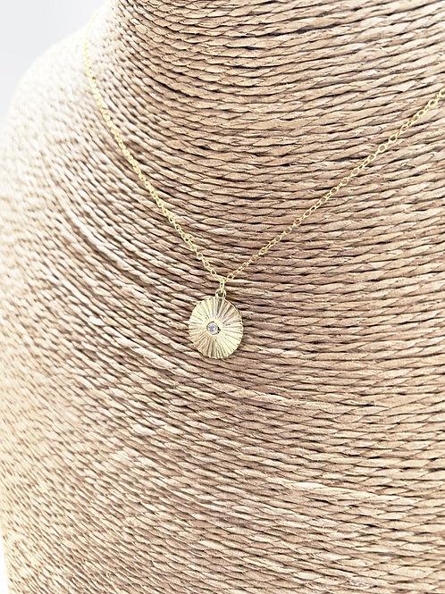 Mika + Co. // Sunburst Pendant Necklace w/ CZ Diamond