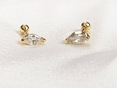 Marquise Cut CZ Diamond Earrings