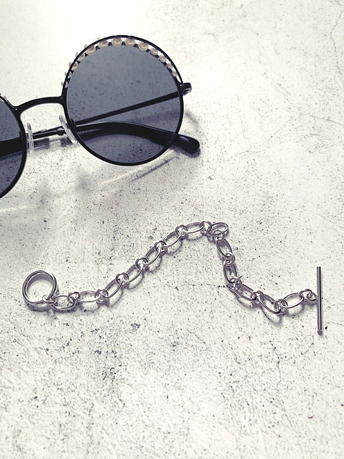 Sterling Silver Chain Link Bracelet w/ Toggle Clasp