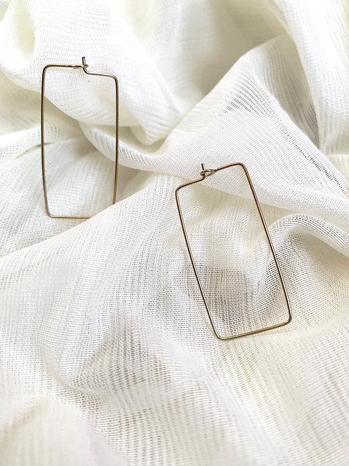 MASHALLAH // Rectangle Hoop Earrings