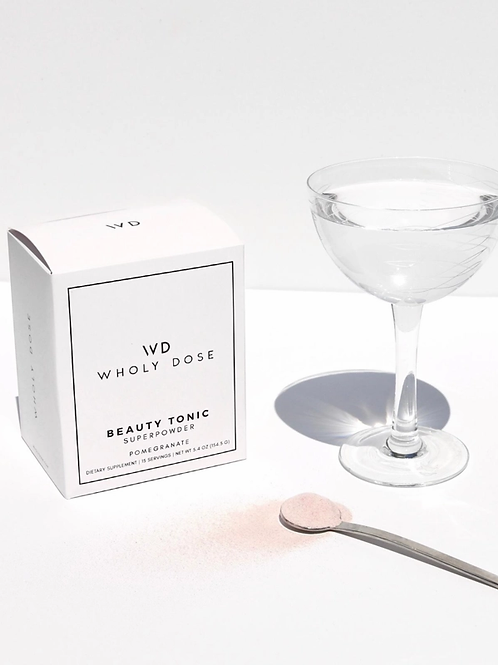 Wholy Dose // BEAUTY TONIC Superpowder Packets- Collagen, Biotin, Silica Boosted