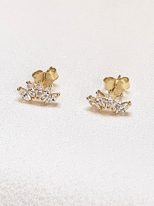 Mika + Co. // Crown Shape CZ Diamond Earrings