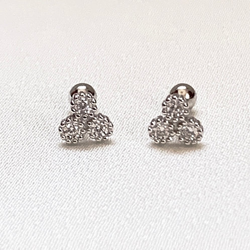 Mika + Co. // Cluster Round Cut CZ Diamond Earrings