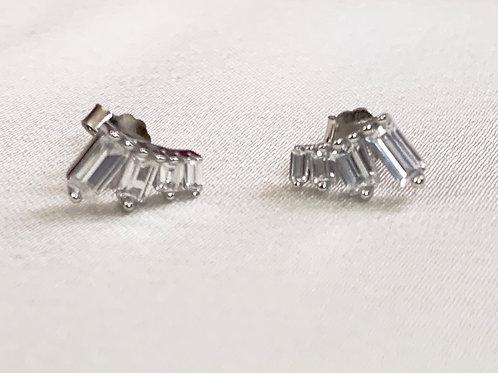 Baguette CZ Diamond Earrings