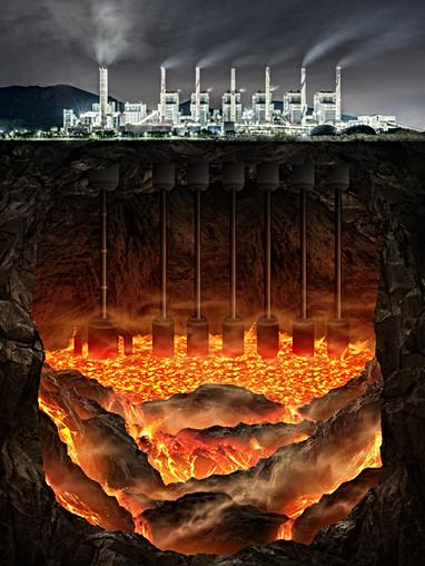 지열발전소 (Geothermal Power Station)
