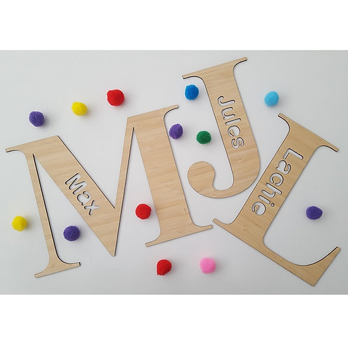 Personalised Bamboo Letters