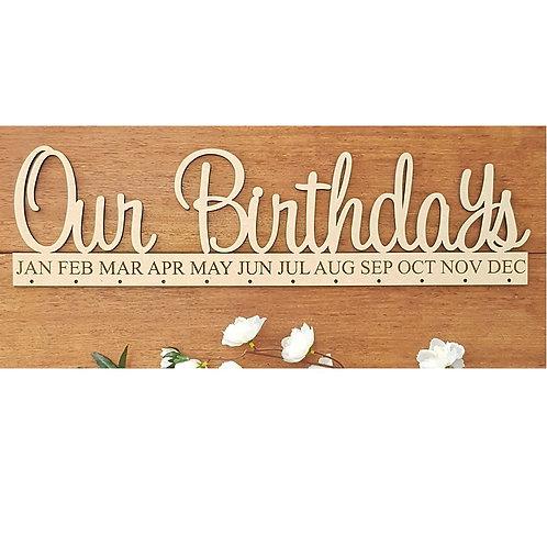 Our Birthdays Calendar Style 1