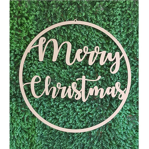 Merry Christmas Hoop