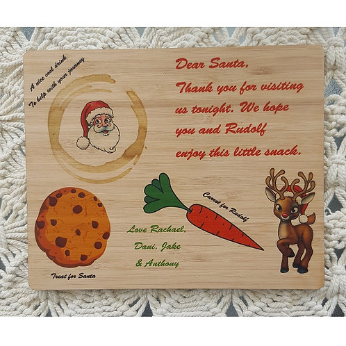 Santa & Rudolf Treat Board