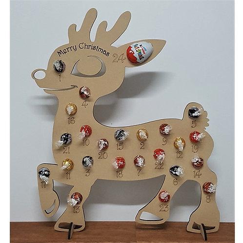 Reindeer Christmas Advent Calendar Countdown