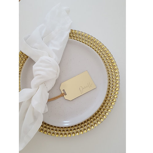 Acrylic Personalised Gold/Rose Gold Mirror Luggage Tags