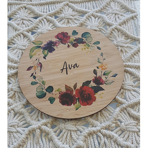 Roses Printed Plaque