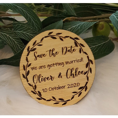 Wooden Engraved Save the Date Coasters