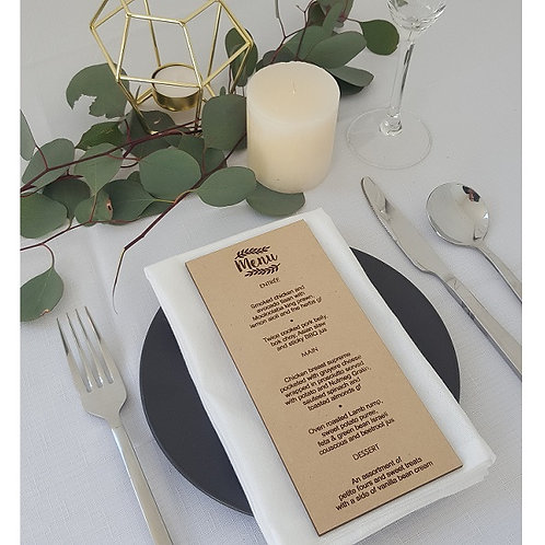 Event Planning Menus