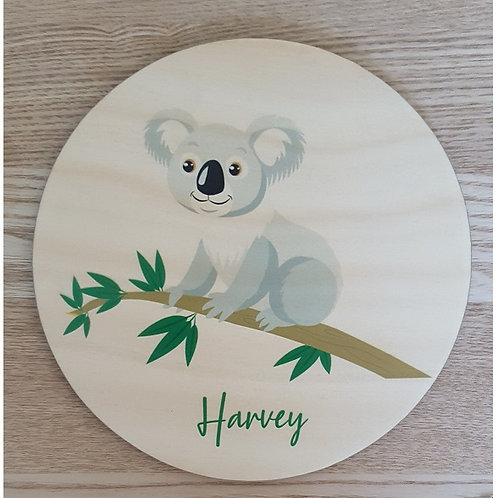 Koala Personalised Printed Plaque