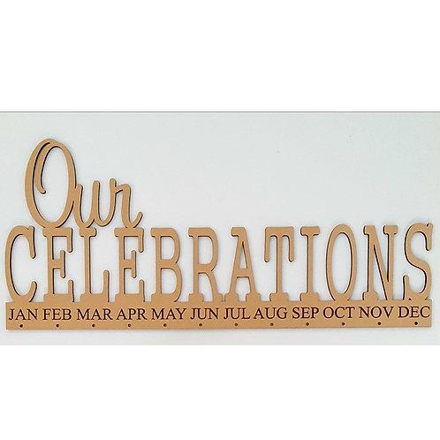 Our Celebrations Calendar