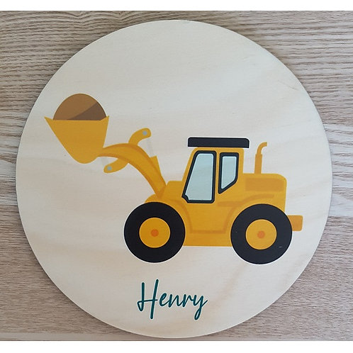 Digger Personalised Printed Plaque