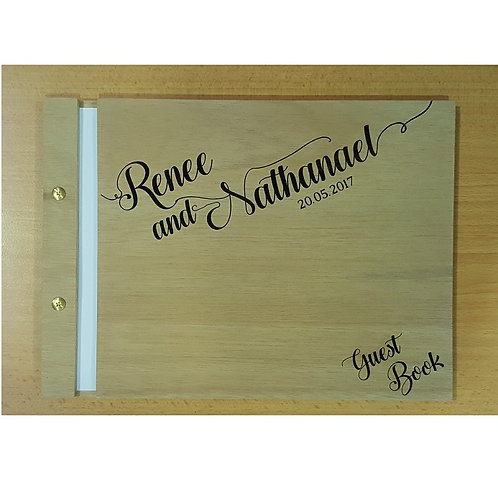 Wooden Guest Book Style 7