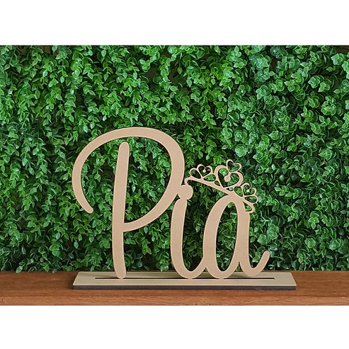 Freestanding Child's Name Sign with crown