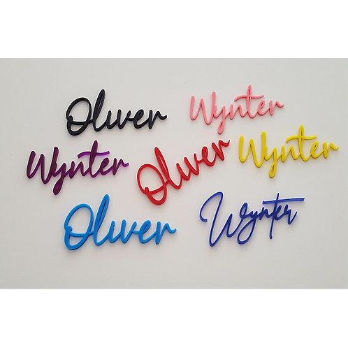 Single Acrylic Name Sign