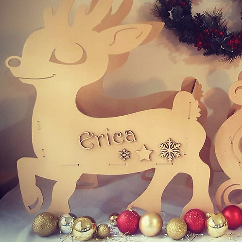 Christmas Personalised Reindeer - MEDIUM